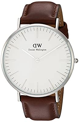 Daniel Wellington Men's Quartz Watch Classic St Andrews 0207DW with Leather Strap
