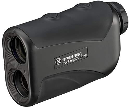 Bresser Entfernungsmesser Rangefinder 6x25 1100m mit Anzeige in Meter oder Yards mit mehrschichtvergüteter Optik