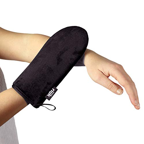 Bräunungshandschuh für Selbstbräuner-Creme doppelseitig mit sehr weichem Samt, Applikator waschbar, peeling, Applikatorhandschuh für Gesicht und Körper -