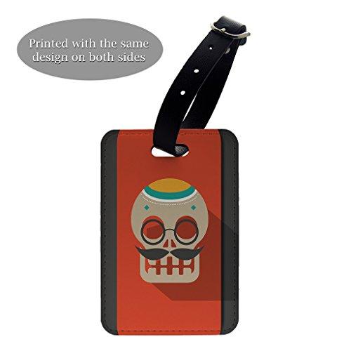 Sugar Skull Kunstdruck Design Muster Gepäck Koffer Gepäck Tag–P706