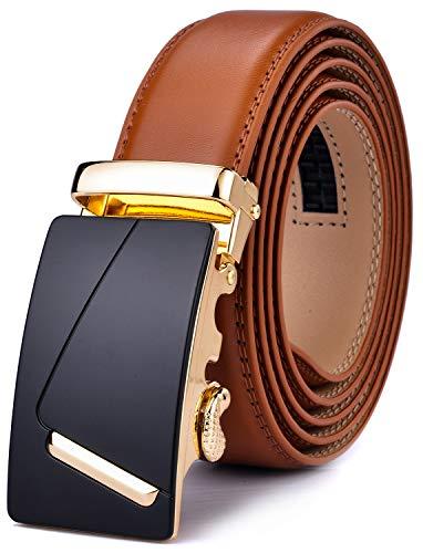 Xhtang Cinturón para Hombre, Cinturón de Trinquete Automático para Hombres, 35mm de Ancho, 130cm de Longitud