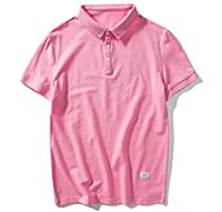 Tootlessly Mens Turn-down Cotton Comfort Pure Color Top Shirts Tunic 1 M
