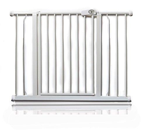 Bettacare Einfach locker Gate Druck ausgestattet Türschutzgitter 75cm - 148cm (94.3cm - 102.3cm, Weiß)