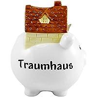 Goldbach Dolomite Traumhaus glasiert Spardose, 14x 14x 19cm, weiß preisvergleich bei kinderzimmerdekopreise.eu