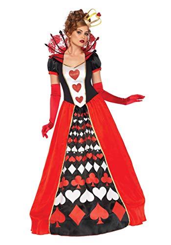 Leg Avenue Women's Plus Size Deluxe Queen of Hearts Fancy Dress Costume 2XL -