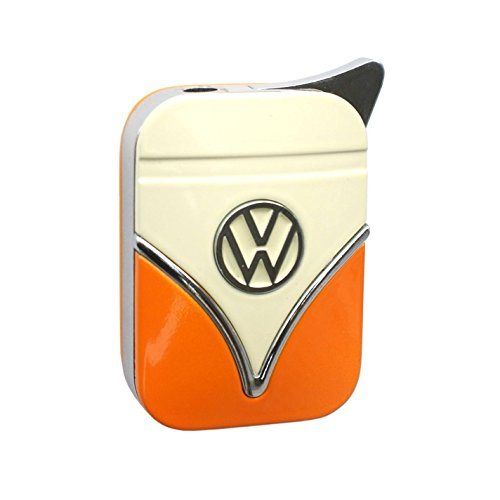 Dunhill-modell (Genuine Volkswagen lighter in the front shield design - in different colors - Gift Set (VW-Bulli-yellow-orange) by Volkswagen VW Polyflame)