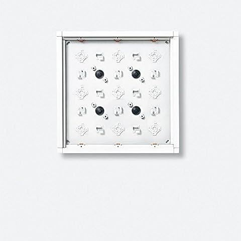 Siedle, 4915741, A plafone Housing 9 moduli, GA 612-3 / 3-0 Sm, argento metallizzato