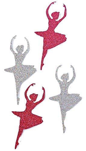 Ballerina Konfetti Silber Glitter Konfetti Tänzerin für Geburtstag und Tischdeko