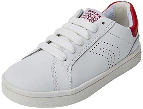Geox Jungen J DJROCK Boy C Sneaker, Weiß (White/Dk Red), 33 EU
