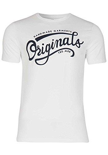 JACK   JONES Herren T-Shirt mit Rundhalsausschnitt   Kurzarm Sport Clubwear  Party, Größe 3573fd1410