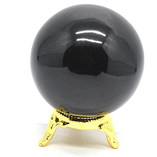 Healing Crystals India®: Natural Black Obsidian 50-60 mm Polished Crystal Sphere Ball Metaphysical Healing Mineral Feng Shui Chakra Aura Balance Stone Free Shipping