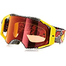 f0b2bf16cf Oakley Gafas Mx Airbrake Dazzle Rojo-Amarillo (Default, Rojo)