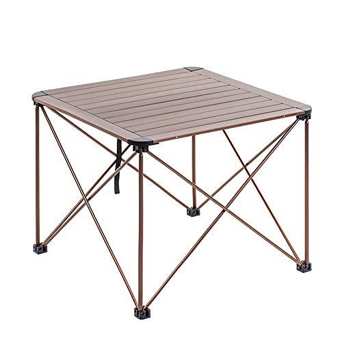 nklappbare Catering Camping-Tischböcke Das tragbare Camping-Tisch-Leichtfalten rollt Oben Aluminium-Tisch für das Wandern im Freien Für Dinner & Picknick Party ()