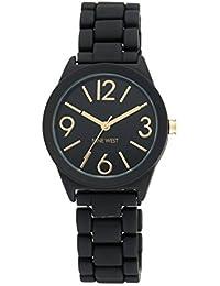 Nine West Women's NW/1812 Rubberized Bracelet Watch