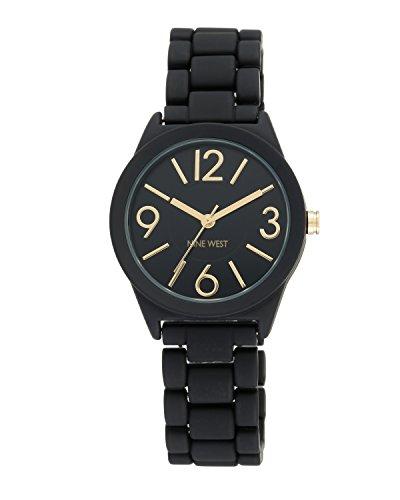 Nine West Damen-Quarzuhr mit schwarzem Zifferblatt Analog-Anzeige und schwarz Legierung Armband NW/1812bkbk