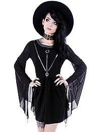 Vestido Gótico Túnica Asimétrica de Restyle Punk Brujería Aquelarre