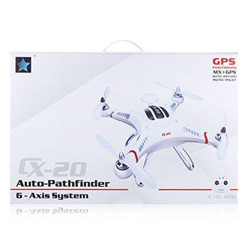 cxhobby cx-20RC Quadcopter auto- pathfinfer RTF Drone 6-axis GPS MX Klassiche System Hubschrauber für FPV UFO Flugzeug Spielzeug mit GoPro Kamera Mount–Weiß - 4