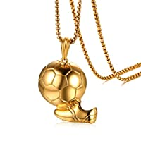 L&H Football Boots Shoes Soccer Charm Necklace Pendant Gold Color Sporty Style Russian Fans World Cup Football Jewelry Gifts For men
