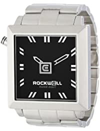 Rockwell Time Unisex FS102 50mm Squared Stainless Steel Silver and Black Reloj