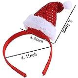 Santfe Diadema Banda de Pelo con Sombreros de Navidad Para Niños Rojo