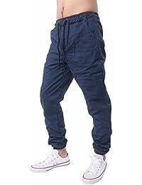Hombres Pantalones de chándal dobladillo Algodón mezclado Camuflaje Pantalones casuales de punto Verde 8XL