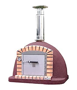 Pizza Oven Vulcano 100 x 100 cm Outdoor Wood Fired Bread, Meat Oven