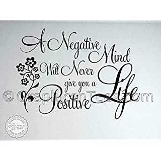 Graphics 'n' Tees - Buddha Quote, Family Wall Sticker, Inspirational Quote, Positive Life - In Black Available (Medium 570mm x 415mm)