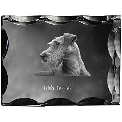 Terrier irlandés, Cristal cúbico con el perro, recuerdo, decoración, edición limitada