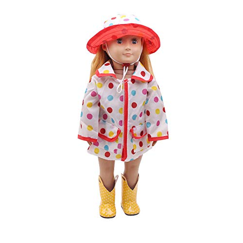 Spritumn Education Toys Hat Raincoat Clothes Suit For 18 Inch American Girl Doll Accessory Girl
