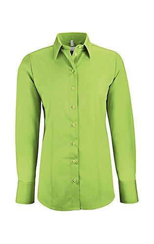 Greiff Damen-Bluse BASIC, Regular Fit, Stretch, easy-care, 6515, mehrere Farben Apfelgrün