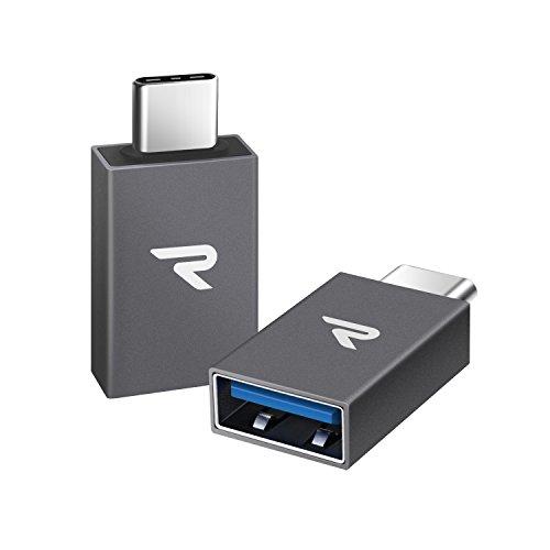 Adaptateur USB C vers USB A 3.1 Rampow - GARANTIE À VIE - Lot de 2 - Adaptateur Type-C mâle à USB...