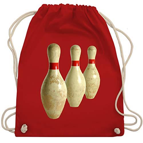 Bowling & Kegeln - Alte Pins Kegel Vintage - Unisize - Rot - WM110 - Turnbeutel & Gym Bag