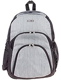 bd597540f7de BagsRUs Atlas Grey Polyester 18 Liter 15.6 Inch Laptop Backpack Travel Bag  (LB118FGR)
