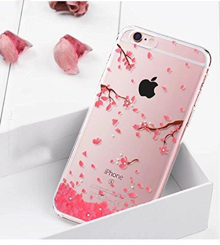 iPhone 6s Plus Hülle, iPhone 6 Plus Hülle, Vandot iPhone 6s Plus / 6 Plus Schutzhülle Diamant Bling Glitzer Transparent Muster Handyhülle Thin Pattern TPU Silikon Weich Case Cover Glänzend Malerei Dur Color 35