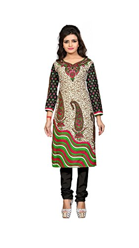Nakoda Creation Women's Cotton Multicoloured Dress Material (Without Dupatta)_1206