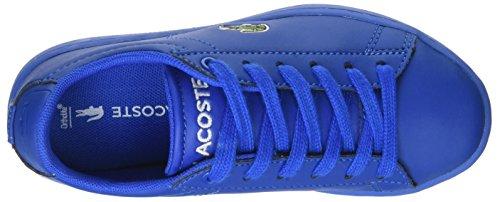 Lacoste Carnaby Evo 317 5, Baskets Basses Mixte Enfant Bleu (Blu)