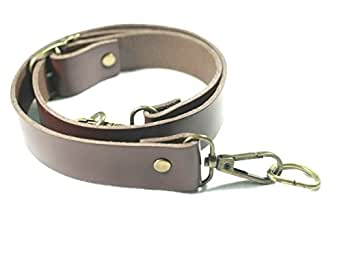 T220 Dark Brown Color Leather Bag Straps Replacement with wide 2.5 cm, adjustable straps.