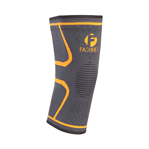Fashnex Knee Cap/Support for Protecting Knee Joints (Single Pc), Medium(Black)