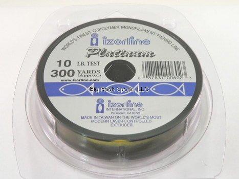 Izorline Platinum Co-Polymer Monofilament Hi-Vis Yellow Line - 300Yd Spool - 10 lb. test