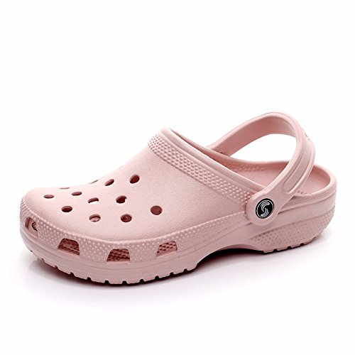 Sommer neuen Jungen europäischen römischen Loch Schuhe Casual Sandalen dicken unteren Sport Strand Schuhe Garten weichen Boden Sandalen Outdoor Schuhe Männer,Pink US=6,UK=5.5,EU=38 2/3,CN=38