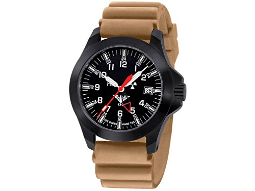 KHS Mens Watch Black Platoon GMT LDR KHS.BPGLDR.DT