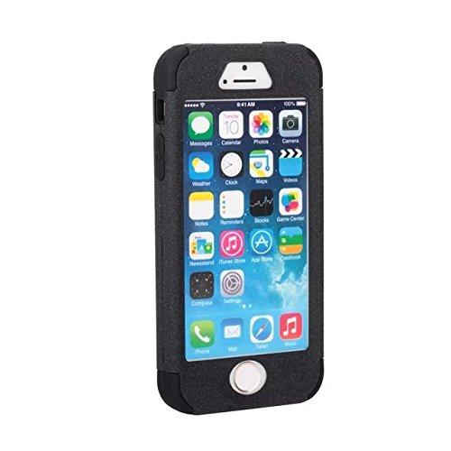 IPhone 5S/SE-Fall, Lantier 3 in 1 Heavy Duty hybrider Fall Stoß- TUFF Schlag harter Silikon Gel Cover-Fashion Quicksand Angel Eyes Schützen für Apple iPhone 5S/SE [Hellblau/Schwarz] 5S/SE Black/Black