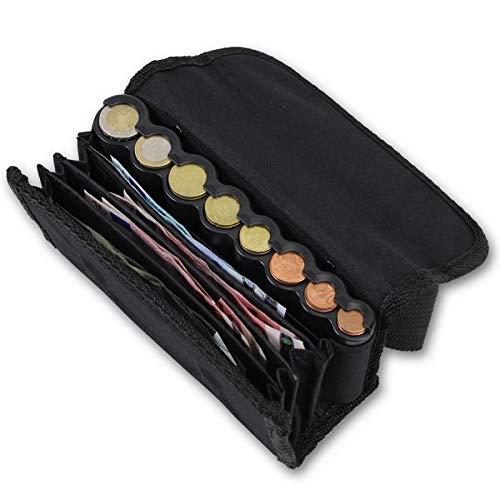 effektivo 10575 Geldbörse mit Münzspender und Tragegürtel Schwarz