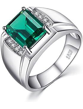 Jewelrypalace Herren Luxus 2.7ct Simulierte Nano russischen Smaragd-Jahrestags-Hochzeits-Ring echt 925 Sterling...