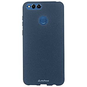 Stuffcool TPU Sable Sandy Finish Textured Soft Back Case Cover for Huawei Honor 7X (Blue)