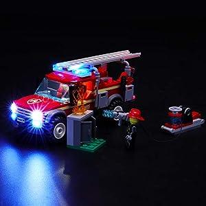BRIKSMAX Kit di Illuminazione a LED per Lego City Fire Chief Response Truck,Compatibile con Il Modello Lego 60231… LEGO City LEGO