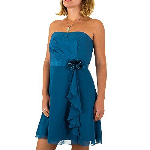 Vera Mont Chiffon Spitzen Kleid Für Damen bei Ital-Design Blau MKL-VM4825-1