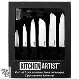 Cofanetto 7pcs coltelli lama ceramica mec100