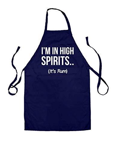 Dressdown I'm In High Spirits... It's Rum Unisex Schürzen Für Kinder - Navy - 7-10 Years (Party Nights Havana)