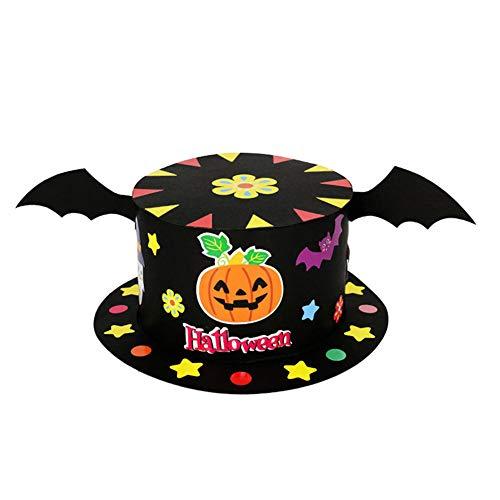 Vi. yo cartoon halloween cappello di carta zucca di halloween per bambini, cappello per fai da te accessori per costume di halloween party, b, 17cm